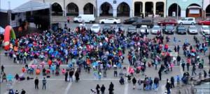 Tisícovka dětí na náměstí v rámci propagace akce EUROGYM