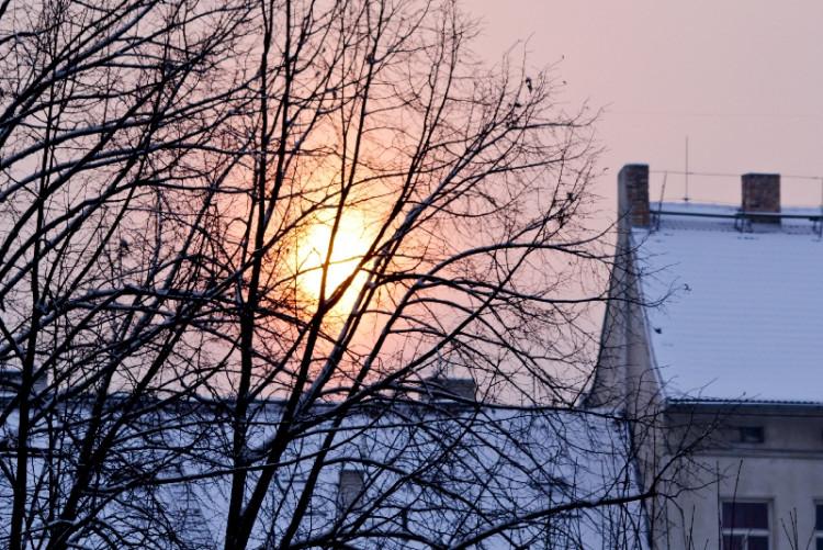 I přes nepříjemné počasí je možné vidět krásné západy slunce