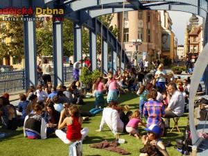 Majálesový piknik na Zlatém mostě