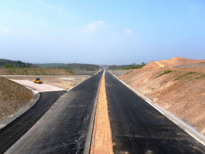 Výstavba dálnice D3 u Tábora