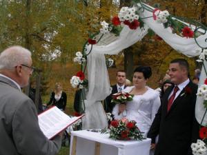 Nikola Kabelová a Martin Telingra ze Zlivi uzavřeli letošní temelínskou svatební sezónu