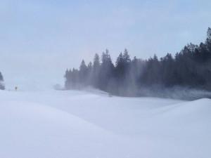 Na sjezdovkách Hochfichtu leží obří hromady sněhu a lyžaři se mohou těšit na výborné sněhové podmínky