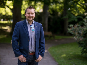 Stanislav Trs, vedoucí kulturního a informačního střediska v Kaplici.