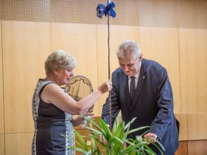 Ivana Stráská a Miloš Zeman.