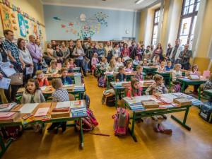 První školn den v budějckých školách