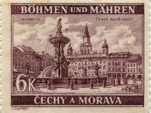 České Budějovice na známce z roku 1940