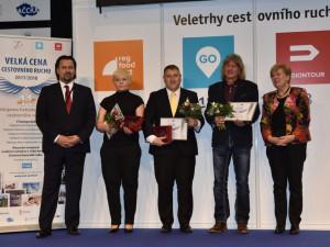 Slavnostni předávání ocenění na veletrhu Regiontour v Brně