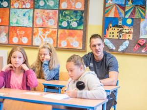 Zahájení školního roku 2018/2019 v českobudějovické základní škole Oskara Nedbala.