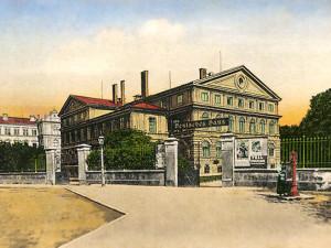 Německý dům na pravém břehu Malše, centrum německých spolků, dnes Kulturní dům Slavie