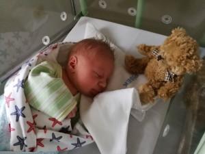 Tomášek je letošním prvním miminkem.