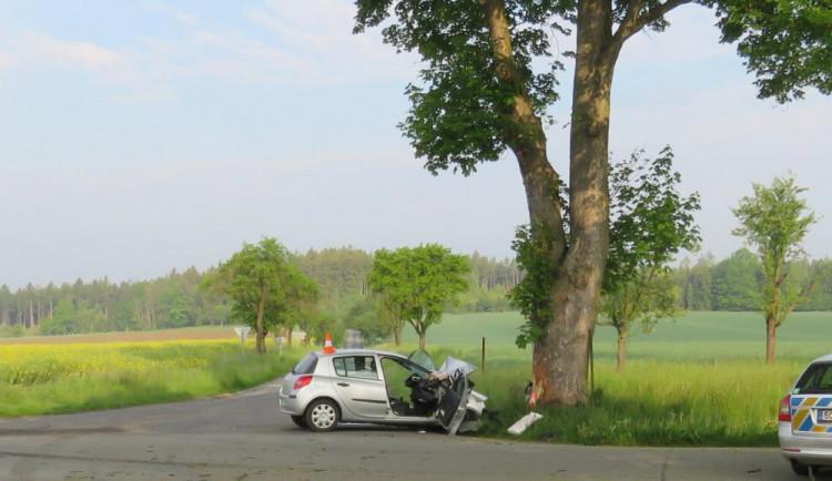 Po nárazu auta do stromu zemřel na Písecku mladý muž