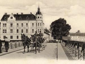 První železný Dlouhý most po roce 1904.