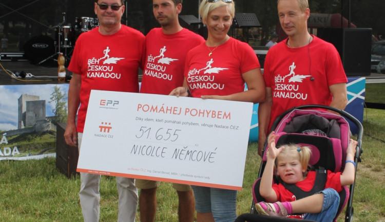 Běh Českou Kanadou přinesl nemocné Nicolce téměř 140 tisíc korun