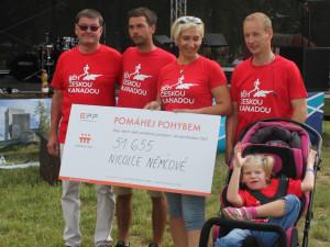 Devítiletou Nicolku podpořili běžci, organizátoři, firmy, ale i třeba nadace. Například od Nadace ČEZ získala Nicolka 51 655 korun.