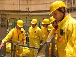 Volejbalisté se během prohlídky podívali až do reaktoru odstaveného druhého temelínského bloku