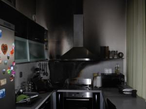 Požár v bytě