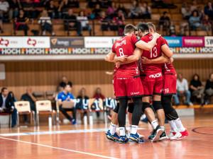 Volejbalisté Českých Budějovic se poprvé v letošní sezoně představili domácím fanouškům.