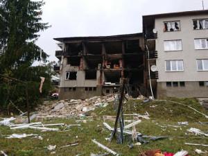 Dům zničený výbuchem