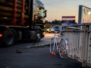 Ghost bike na místě nehody.