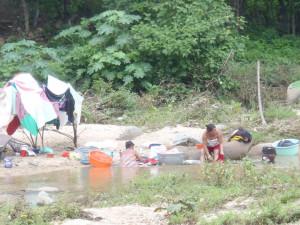 Oblast Guerrero - západní Mexico - praní prádla