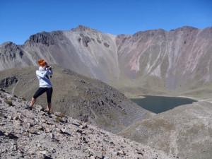 Sopka Nevado de Toluca - kráter