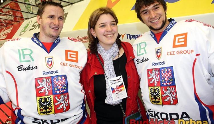 Brankářská dvojice Jakub Kovář (vpravo) s Tomášem Pöpperlem