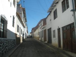 Sucre - ulička ve městě