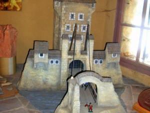 Model hradební věže