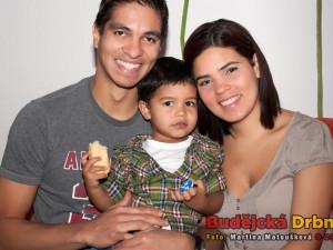 Venezuelský volejbalista Andy Rojas s rodinou