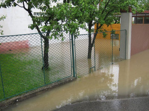 Potopa v Olešníku. Foto Růžena Popelová