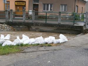 Trhové Sviny, potok u hlavní silnice na Budějce. Foto Lenka Vandělíková