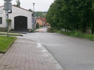 Trhové Sviny, u polikliniky. Foto Lenka Vandělíková