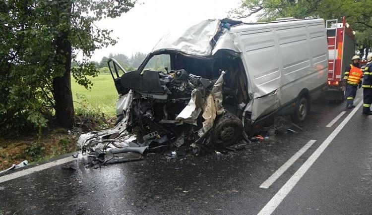 Tragická nehoda Iveco Daily u Nové Hospody