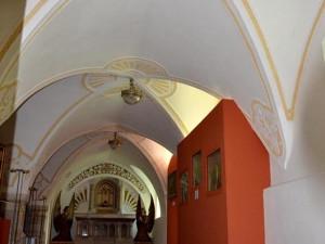 Expozice gotického umění je umístěna v bývalém dormitáři