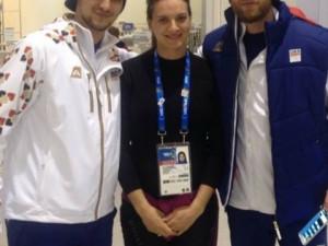Kuba Kovář s Jirkou Novotným potkali atletku Jelenu Isinbajevovou