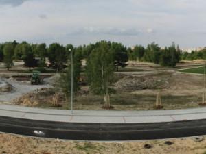 Panoramatický snímek od ulice Evžena Rošického