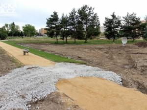 Výstavba Parku Čtyři Dvory