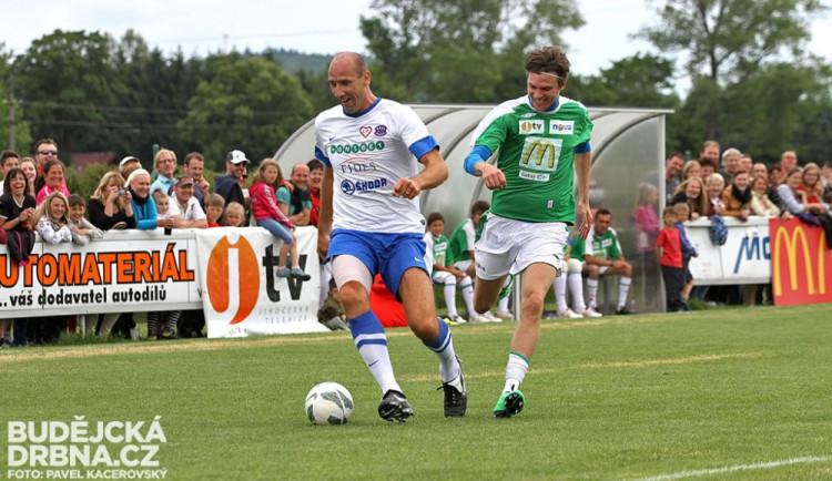 Fotbalová exhibice hvězd v Roudném