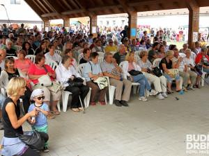 Publikum mohlo poslouchat hudební produkci pod přístřeškem