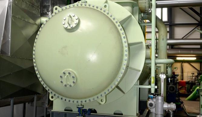 Část systému turbíny