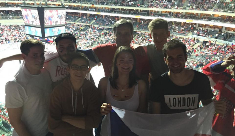 Čtenáři Drbny jsou na zápase Česko - Německo