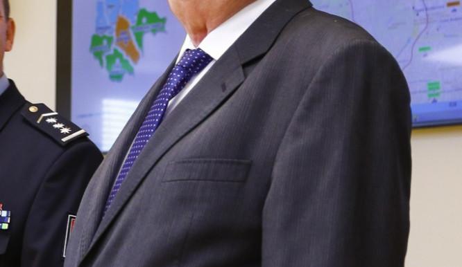 Prezident Miloš Zeman při návštěvě operačního střediska PČR