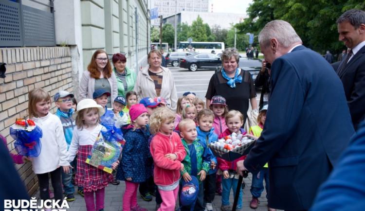 Prezident Miloš Zeman na návštěvě Jihočeského kraje 2016
