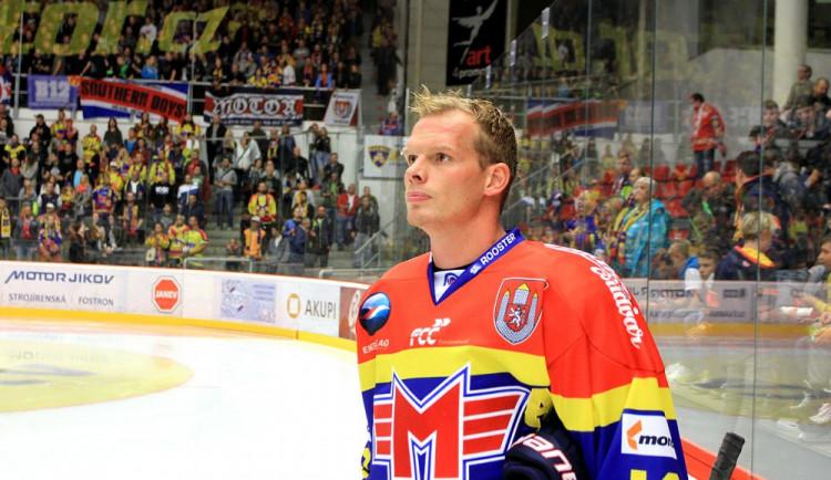 Václav Nedorost zpátky na ledě českobudějovického zimního stadionu