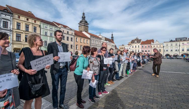 Budějcké pietní shromáždění za oběti koncentračního tábora v Letech
