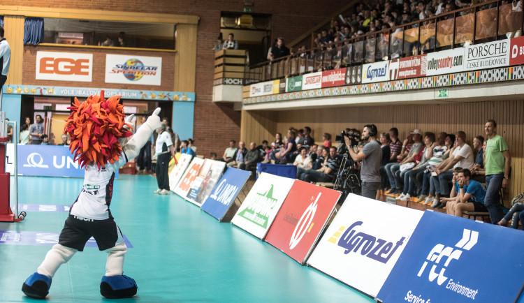 Třetí semifinále volejbalové extraligy mužů Jihostroj - Karlovarsko