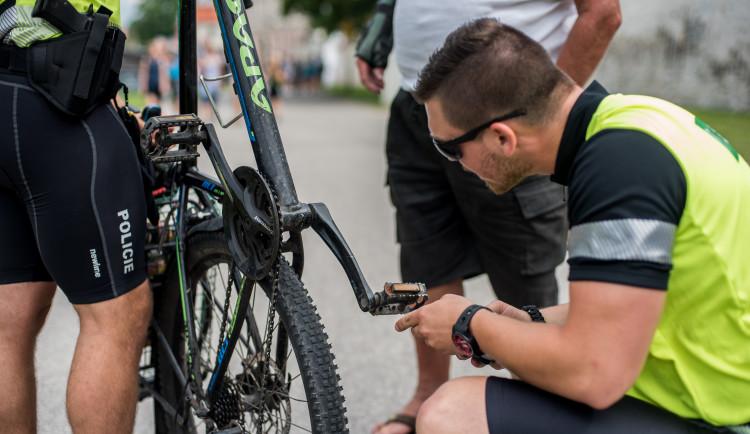 Dopravně bezpečnostní akce policie zaměřená na cyklisty