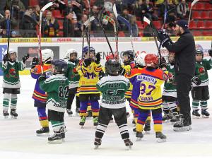 Chvíle slávy malých hokejistů Motoru a Slavoje