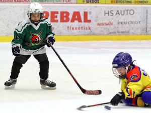 Přestávkový souboj českobudějovických a českokrumlovských hokejových nadějí