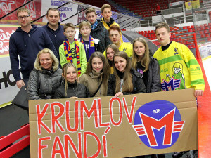 Proti Frýdku-Místku v Budvar aréně fandili také českokrumlovští gymnazisté